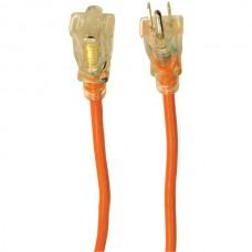 1-Outlet Orange Indoor/Outdoor Grounded Workshop Extension Cord, 100ft
