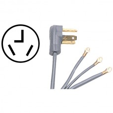3-Wire Eyelet 30-Amp Dryer Cord, 4ft