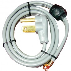 3-Wire Eyelet 30-Amp Dryer Cord with Quick Connect, 4ft