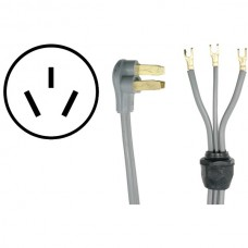 3-Wire Open-End-Connector 40-Amp Range Cord with Quick Connect, 4ft