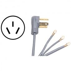 3-Wire Eyelet 40-Amp Range Cord, 5ft