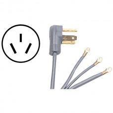 3-Wire Eyelet 50-Amp Range Cord, 10ft