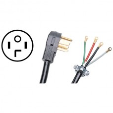 4-Wire Eyelet 30-Amp Dryer Cord, 10ft