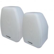125-Watt 2-Way 5.25-Inch Indoor/Outdoor Speakers with Keyholes for Versatile Mounting (White)