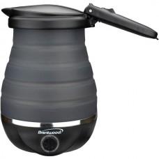 .85-Quart Dual-Voltage Collapsible Travel Kettle (Black)