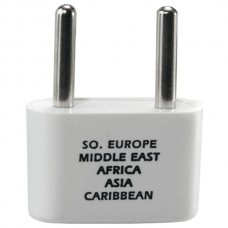 Adapter Plug for Europe, Middle East, Parts of Africa & Caribbean