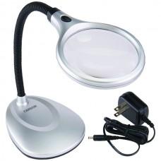 DeskBrite200(TM) 2x LED Magnifying Lamp with 5x Spot Lens