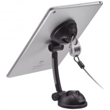 Suction-Mount Stand with Theft-Deterrent Lock for Tablet/Smartphone