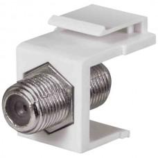 1 GHz F-Connector Keystone Insert (White)