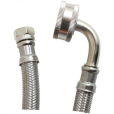 Braided Stainless Steel Dishwasher Connector with Elbow, 6ft