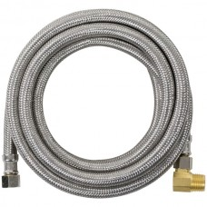Braided Stainless Steel Dishwasher Connector with Elbow, 8ft