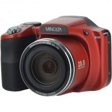 20.0-Megapixel 1080p Full HD Wi-Fi(R) MN35Z Bridge Camera with 35x Zoom (Red)