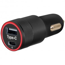 Car Charger with USB-A and USB-C(TM) Ports