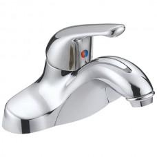 Chrome-Plated Single-Handle Bathroom Faucet