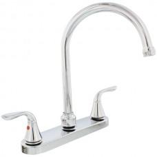 Chrome-Plated 2-Handle Gooseneck Kitchen Faucet