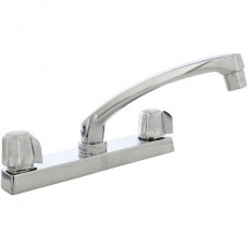 2-Handle Heavy-Pattern Chrome-Plated Kitchen Faucet