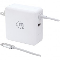 60-Watt Power Delivery Wall Charger with Built-in USB-C(TM) Cable (White)