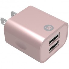 2.4-Amp Dual USB Wall Charger (Rose Gold)