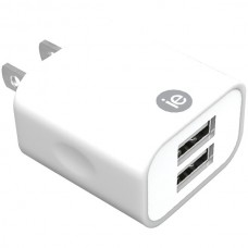 2.4-Amp Dual USB Wall Charger (White)