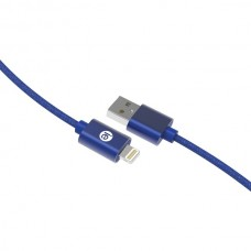 Charge & Sync Braided Lightning(R) to USB Cable, 6ft (Blue)