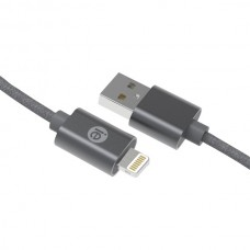 Charge & Sync Braided Lightning(R) to USB Cable, 6ft (Gray)