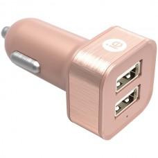 2.4-Amp Dual USB Car Charger (Rose Gold)