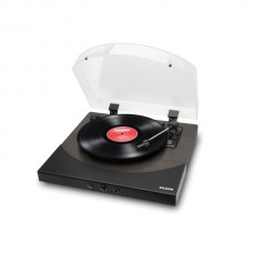 Premier LP ]Turntable with Built-in Stereo Soundbar (Black Ash Wood)