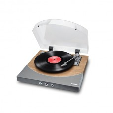 Premier LP Turntable with Built-in Stereo Soundbar (Natural Wood)