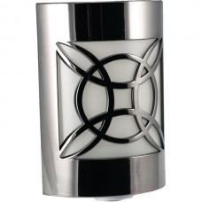 Auto Geometric Faux Nickel LED CoverLite(TM) Night-Light