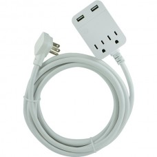 USB Extension Cord with Surge Protection, 12ft