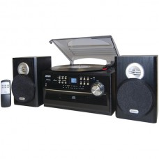 3-Speed Turntable with CD, Cassette & AM/FM Stereo Radio