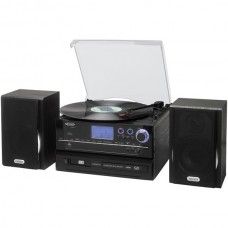3-Speed Stereo Turntable CD Recording System with Cassette Player, AM/FM Stereo Radio & MP3 Encoding