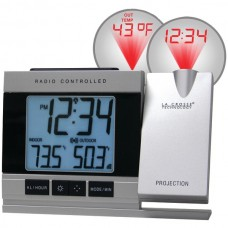 Atomic Projection Alarm Clock with Indoor & Outdoor Temperature