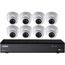 16-Channel 2 TB DVR with Eight 1080p HD Weatherproof Indoor/Outdoor Dome Cameras