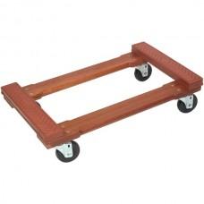 Wood 4-Wheel Piano Rubber-Cap Dolly