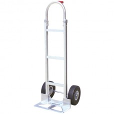 Aluminum Hand Truck with Foam Rubber Tires (Stick Handle)