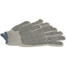 Knitted Gloves with PVC Dots, 12 pk