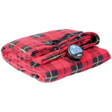 Comfy Cruise(R) 12-Volt Heated Travel Blanket (Red Plaid)