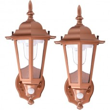 Battery-Powered Motion-Activated Plastic LED Wall Sconce (Bronze)