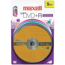4.7GB 120-Minute DVD+Rs (5 pk, Color, Carded)
