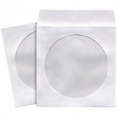 CD/DVD Storage Sleeves (50 pk; White)