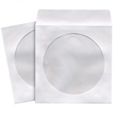 CD/DVD Storage Sleeves (100 pk; White)
