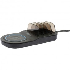 5-in-1 Wireless Fast Charging Station with Qi(R) and 4 USB Ports