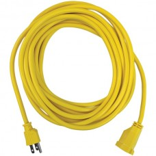 Yellow Outdoor Power Extension Cord, 25 Feet