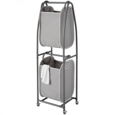 2-Tier Rolling Vertical Laundry Sorter with Hamper-Totes and EVERFRESH(R) Odor Control