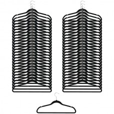 50-Pack Ultraslim Nonslip Felt Clothes Hangers