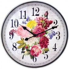 12-Inch Floral Wall Clock