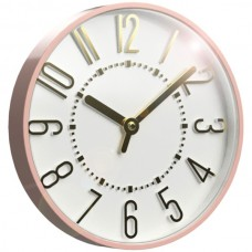 10-Inch Blush and Gold Wall Clock