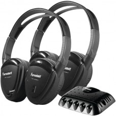 2 Sets of Single-Channel IR Wireless Headphones with Transmitter for use with Power Acoustik(R) Mobile A/V systems