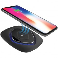 Qi(R)-Certified ChargeWAVE Fast Wireless Charging Pad (Black)